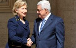 Clinton and Abbas during visit to Israel