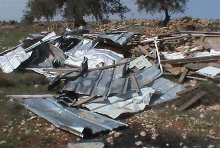 Ramat Migron after police destruction (archiv