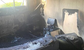 House destroyed after phone charger causes fire