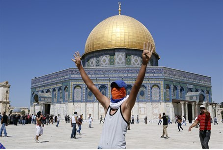 Muslim extremist on the Temple Mount