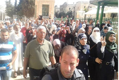 Arab mob on Temple Mount