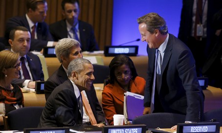 Obama and Cameron at UN Leaders Summit