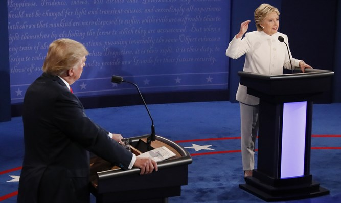 Trump and Clinton at the third debate