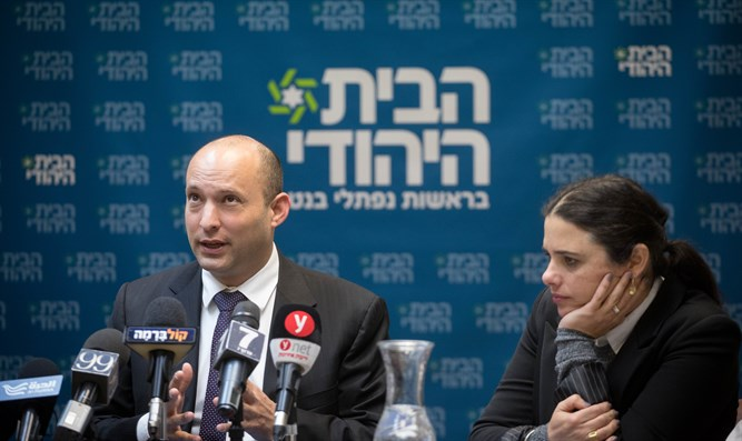 Bennett delivering remarks at party meeting