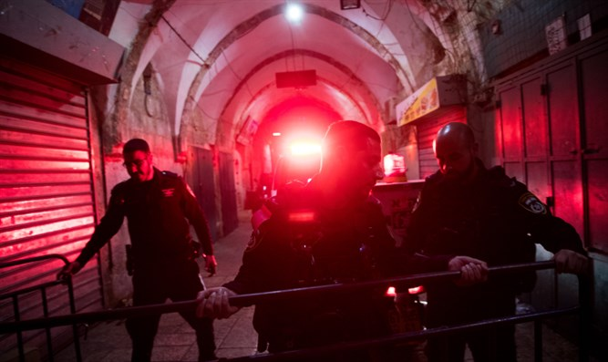 Scene of stabbing attack in Old City of Jerusalem