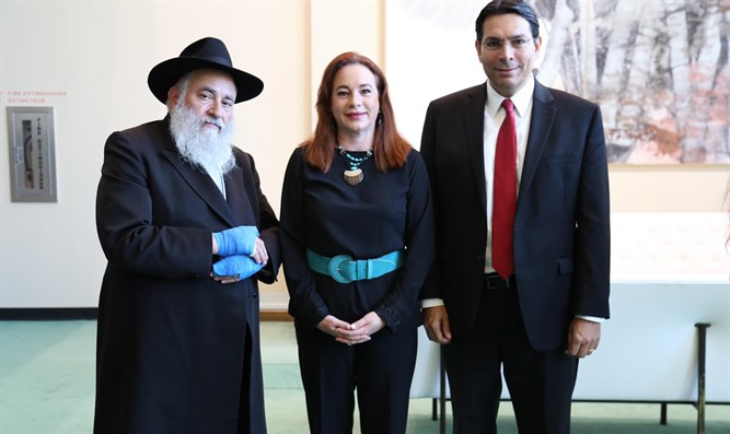 Danon with Rabbi Goldstein