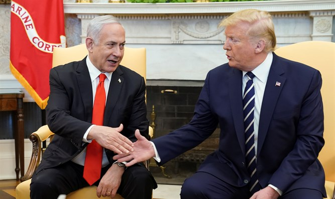 Donald Trump and Binyamin Netanyahu meet in White House (archive)