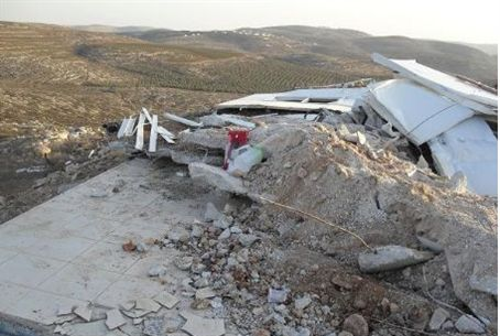 Dairy farm in Samaria destroyed by police