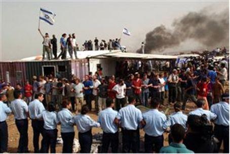 A previous demolition in Gilad Farm