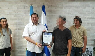 Award ceremony for young man who thwarted Huwara terror