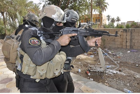 Iraqi security forces (pictured) were forced