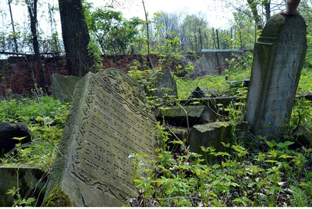 Abandoned Jewish cemetery in Poland