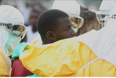 Ebola patient in Liberia (file)