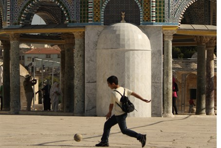 Arab soccer on Temple Mount (file)