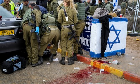 Gush Etzion junction stabbing site, Dec 1-15