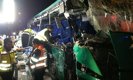 Lethal bus crash near Modi'in