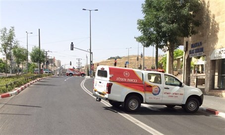 Road blocked after chemical spill in Pisgat Zeev