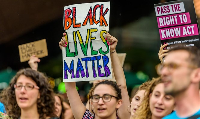 Jewish supporters of Black Lives Matter movement in New York
