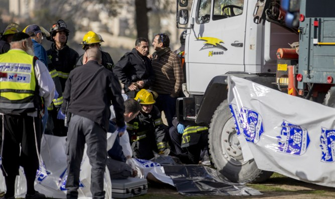 Scene of attack in Jerusalem