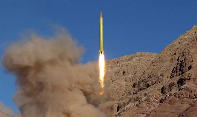 Ballistic missile launched and tested in undisclosed location, Iran, March 9, 2016