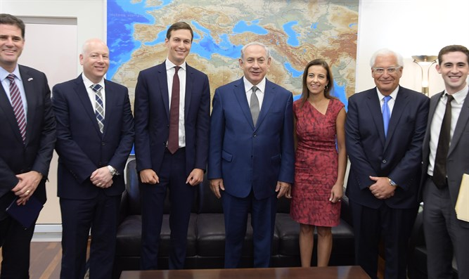 Kushner and Greenblatt during a previous visit to Israel