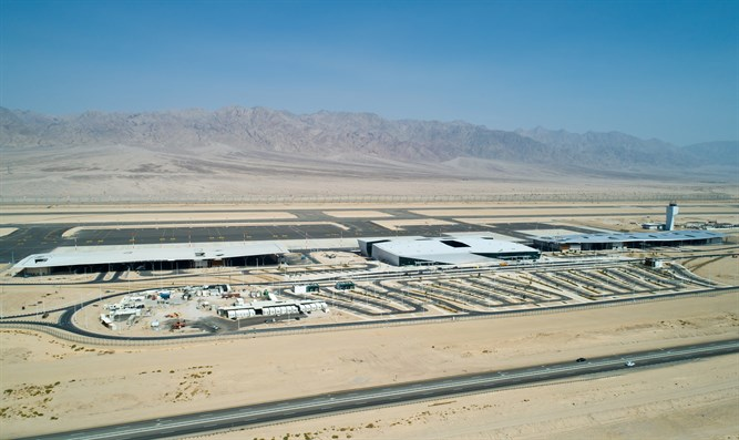 Ramon International Airport in the Timna Valley, southern Israel