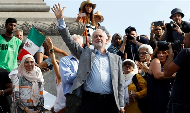 Corbyn joins anti-Trump protest in central London