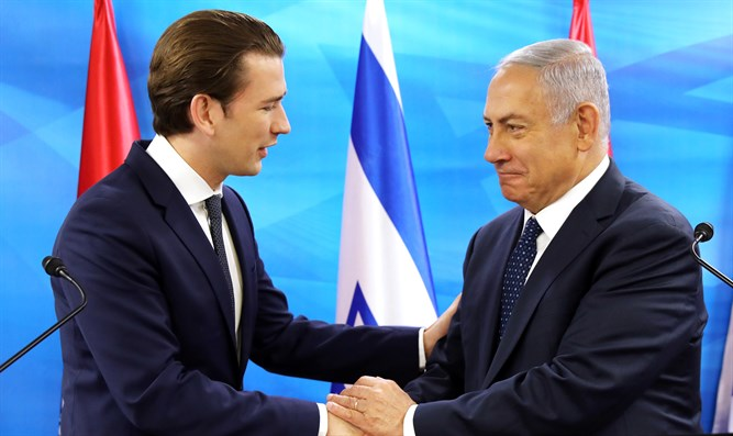 Kurz and Netanyahu in June, 2018