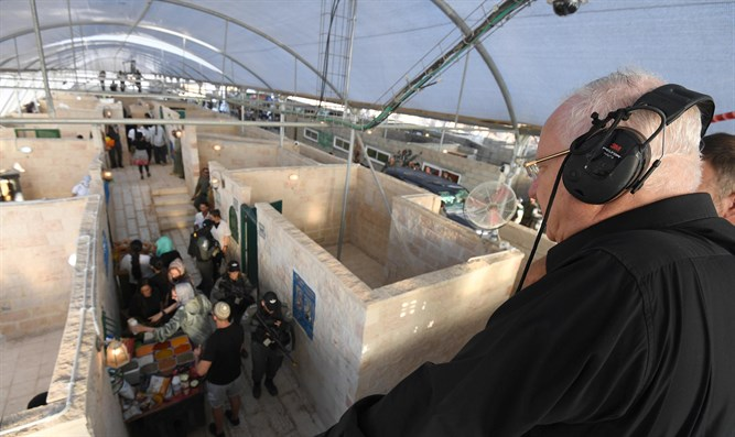 Rivlin in drill simulating terrorist attack in the Old City of Jerusalem