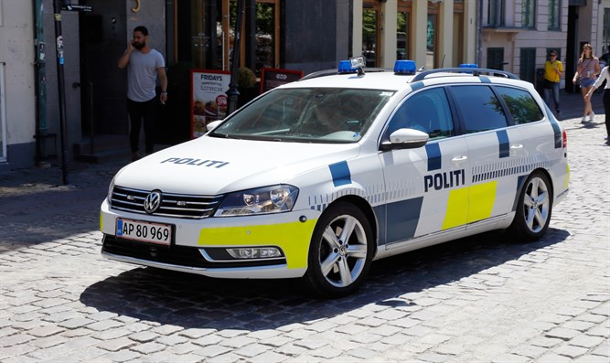 Police car in Copenhagen, Denmark