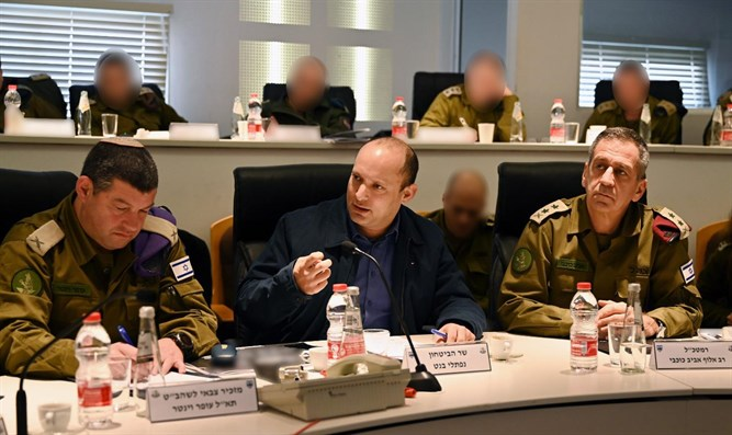 Bennett at situation assessment with IDF top brass