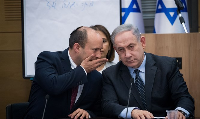 Naftali Bennett and PM Netanyahu