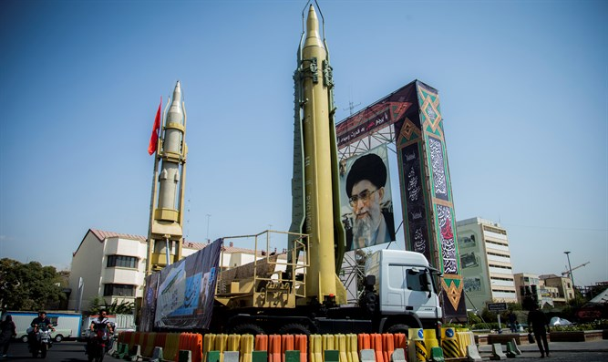 Iranian missile display in Tehran