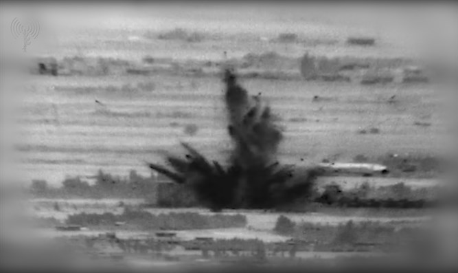Footage of IDF attack in Syria